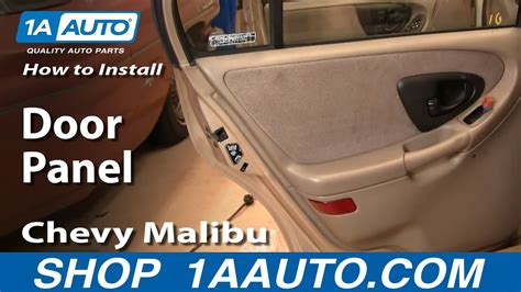 install remove rear door panel chevy malibu