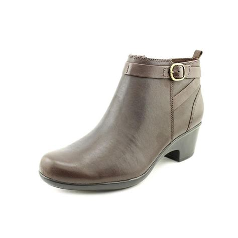 womens leather ankle boots clarks malia hawthorn w leather brown ankle boot boots