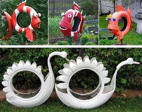 Garden Decoration Toys by 20 Garden Decorations And Toys Made With Recycled