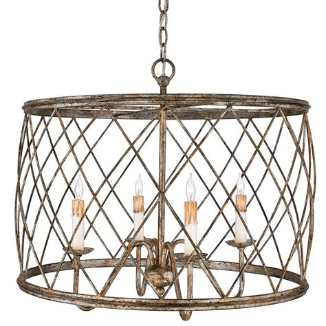 Metal Drum Chandelier Quoizel Rdy2823cs Century Silver Leaf Dury 4 Light 23 Quot Wide Drum Chandelier With Metal Cage