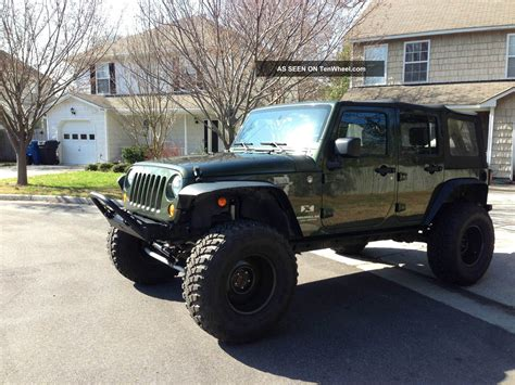 jeep unlimited lifted 2007 jeep wrangler unlimited x 37 quot wheels rock krawler lifted