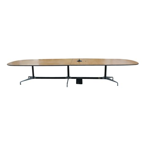 15 conference table 1 15 ft herman miller eames oak conference table ebay
