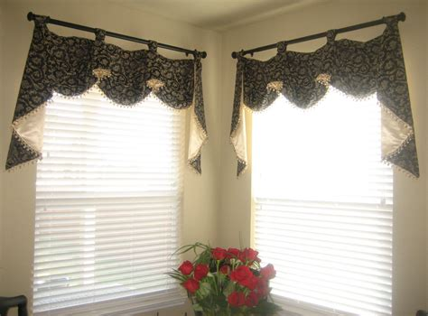 curtain swags ideas country valances and swags home interior decoration idea