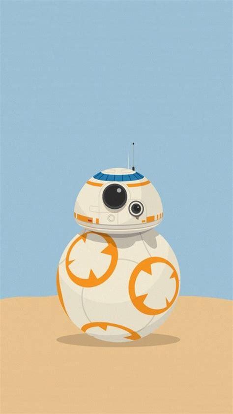bb  cute robot star wars illustration iphone  wallpaper