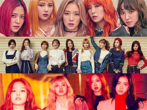 blackpink red velvet october girl group brand reputation rankings revealed soompi