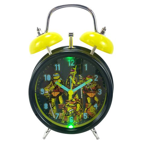 mutant turtles turtles light up quartz analog bell alarm clock tvs