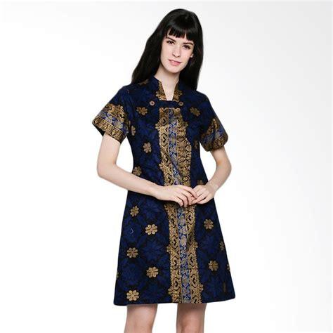 Batik Prada Kembang Ketupat jual batik arjunaweda 19205107 tenun kembang sackdress batik biru harga