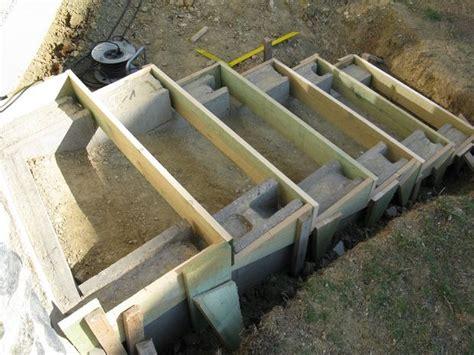 garten treppenstufen setzen eine treppe aus stahlbeton gartenbau selber gemacht