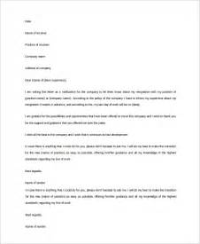 profeesional resignation letter sample 9 examples in