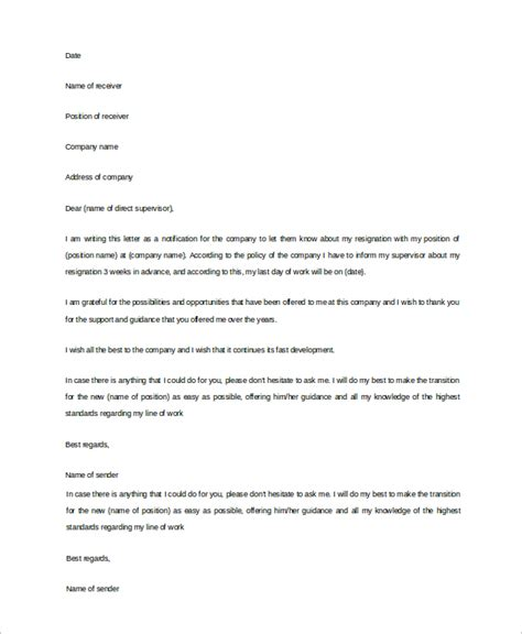 Sle Resignation Letter It Professional by 10 Best Resignation Letter Doc 28 Images Professional Resignation Letters Professional