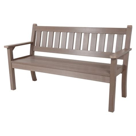 all weather bench 3 seat dark oak bench outdoor garden patio all weather