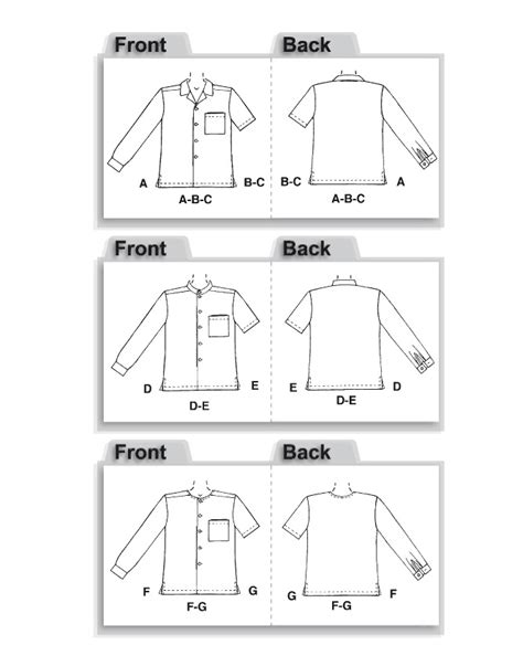Sewing Pattern Grandad Shirt | mccall s 2149 men s shirt