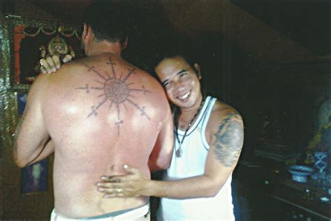 thong tattoo thai buddhist back big magic koh phangan