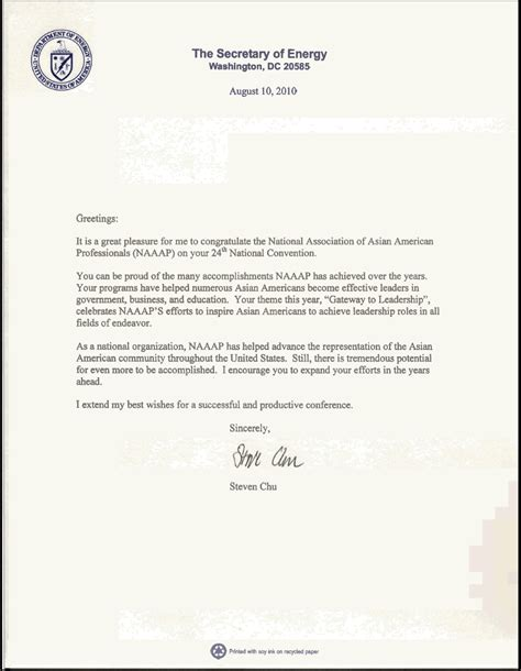 greeting letter penn working papers