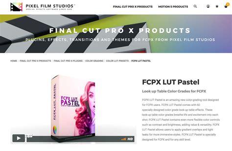 final cut pro lut fcpx lut pastel was released by pixel film studios for fcpx