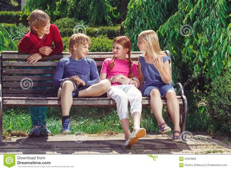 kid on bench 100 children bench royalty free kid stock friend