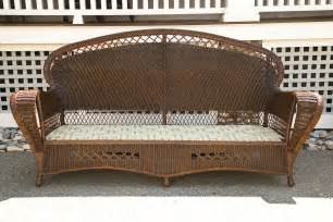 Rattan Wicker Patio Set Antique Wicker Sofa And Chairs At 1stdibs