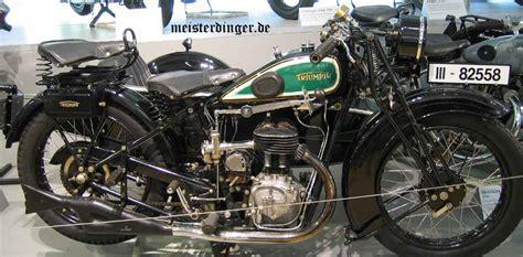 Triumph Motorrad Museum by Motorr 228 Der Aus N 252 Rnberg Triumph T 4