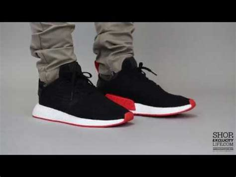 Adidas Nmd R2 Primeknit Bred White Premium Original 1 adidas nmd r2 pk black on at exclucity