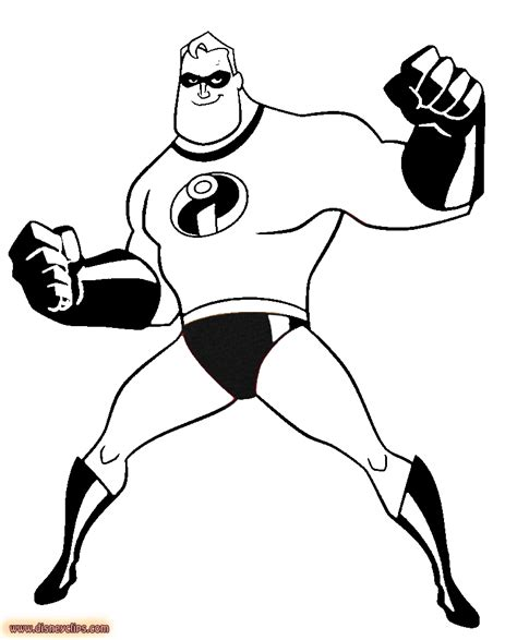 disney the incredibles coloring pages download and print
