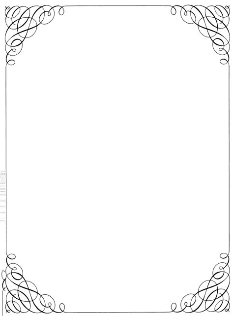 Free Word Template With Border Cards by Word Templates Borders Tire Driveeasy Co