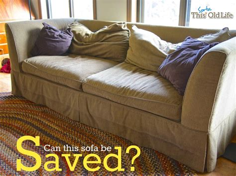 how to cover an old couch a diy sofa makeover