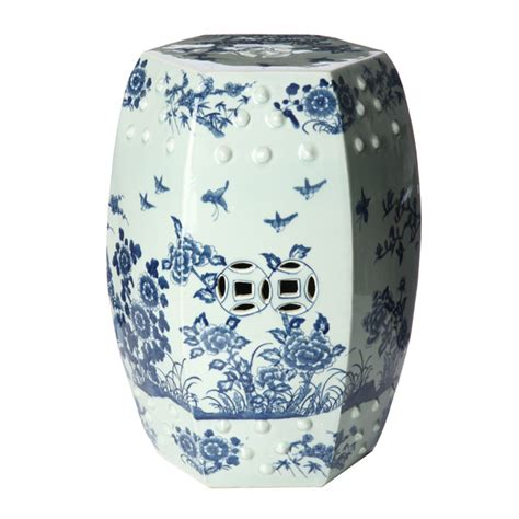 Garden Stool Blue White by Marvelous Porcelain Garden Stool 3 Blue And White Ceramic