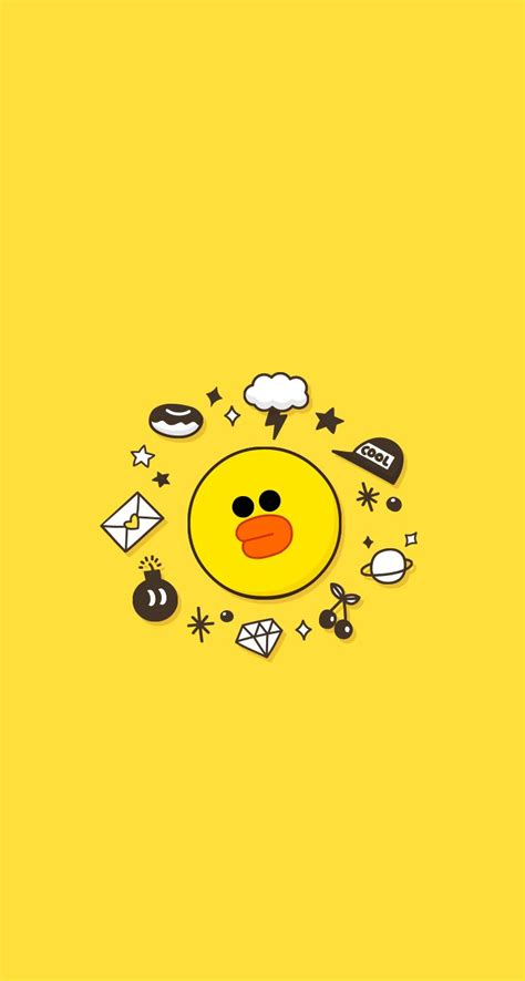 wallpaper emoticon line line wallpaper iphone iphone wallpaper pinterest