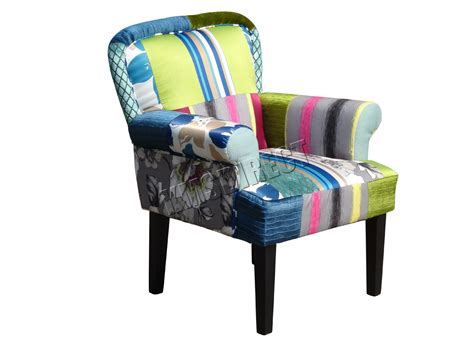Patchwork Fabric Chair - foxhunter patchwork chair fabric vintage armchair seat