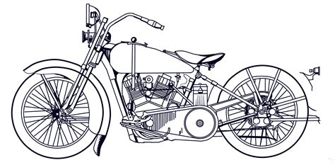 Motorrad Chopper Zeichnung by Harley Motorcycle Drawing Www Pixshark Images