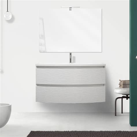 mobile bagno 100 mobile bagno curvet 100 cm 2 cassetti lavabo in ceramica