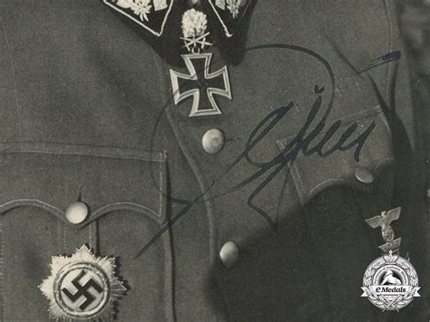 Ss Signature a photo from winner ss obergruppenf 252 hrer herbert otto gille with original signature