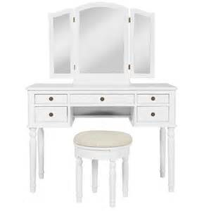 Makeup Vanity Seat Bcp Wooden Makeup Jewelry Vanity Set Table With Mirror And