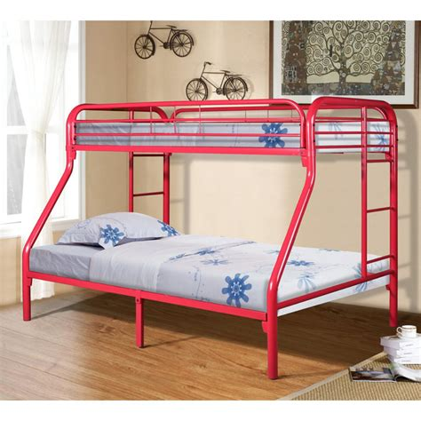 twin over full metal bunk bed donco kids twin over full metal bunk bed red ebay