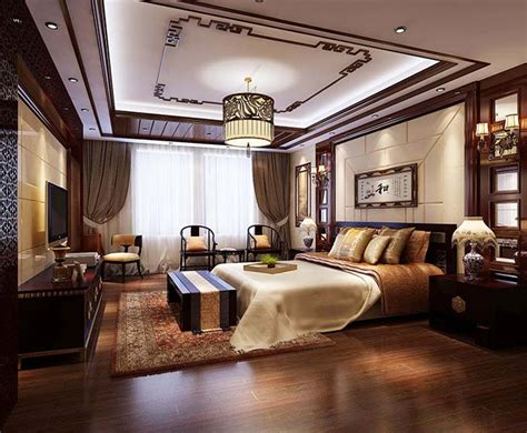 european and chinese style luxury bedroom interior design chinese luxury bedroom decoration renderings