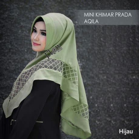 Aqila Khimar Black koleksi jilbab terbaru aliyahwachid mini khimar prada