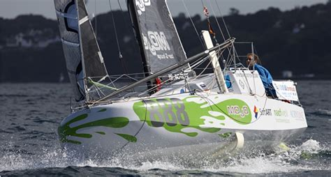 scow mini transat simon koster s semi foiling mini scow the daily sail