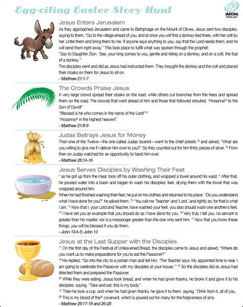 printable children s version of the easter story easter story hunt imom