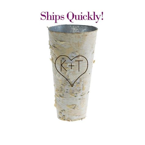 Personalized Vase by Personalized Birch Bark Vase Rustic 9 Vase Wood
