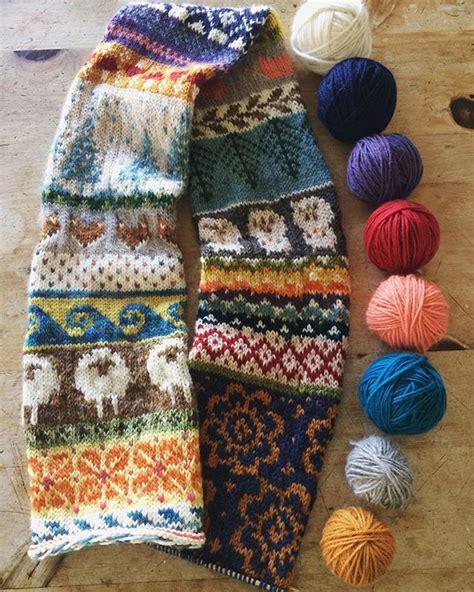 Knitting Pattern Fair Isle Scarf | 3190 best breien fair isle patronen images on pinterest
