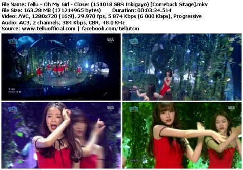 download mp3 closer by oh my girl download perf oh my girl closer sbs inkigayo 151018
