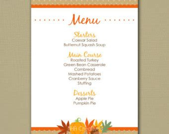 free thanksgiving menu templates printable thanksgiving menu templates for free happy