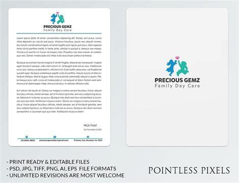 Letterhead India letterhead design for precious gemz family day care by