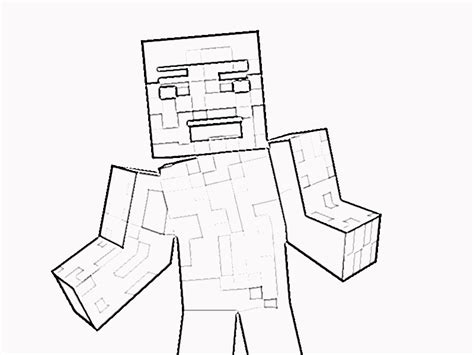 minecraft steve coloring pages free printable minecraft steve coloring page coloring kids