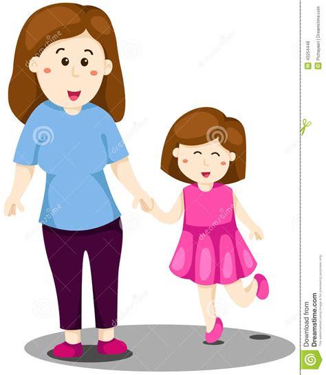 imagenes de madre e hijo de caricatura μητέρα και κόρη διανυσματική απεικόνιση εικόνα από