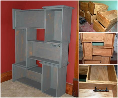 Dresser With Shelves And Drawers by How To Diy Salvaged Shelf From Vanity Drawers Www