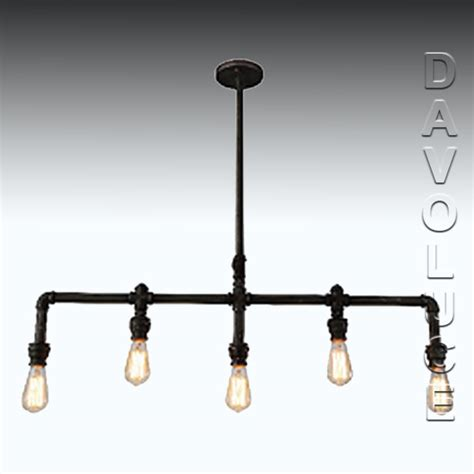 Foundry Lighting by 201523 Eglo Foundry 5 Light Pipe Pendant From Davoluce
