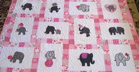 fabric elephant pattern free vicki s fabric creations pretty in pink elephant quilt
