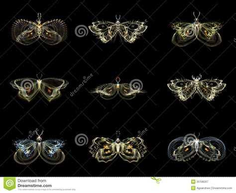 design visualization dreamzone visualization of fractal butterflies stock illustration