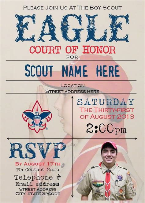 Eagle Scout Court Of Honor Invitation Template by 10 Cool Eagle Scout Invitations Hative